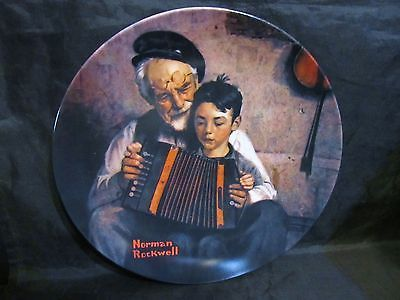 "Norman Rockwell's Heritage Collection Series ""The Music Maker "" Collector Plate"