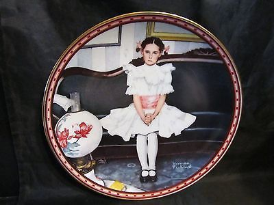 "Norman Rockwell's "" Sitting Pretty "" A 1986  A Mind of Her Own Collector Plate"