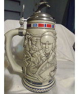 AVON Tribute to The American Armed Forces Military Stein Lidded Numbered... - $19.95