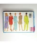 Butterick  Sewing Pattern Misses Pajamas Nightshirt Pants Petite Size 14-18 - $9.89