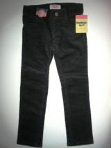 NEW NWT OshKosh B'Gosh Black Skinny Corduroy Pants Girls size 4 4T - $11.29