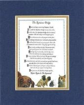 Touching and Heartfelt Poem for Dog Memorial - [The Rainbow Bridge] Dog Memorial - $19.95