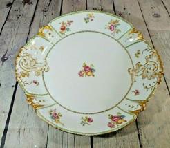 """Vintage Haviland Limoges CFH GDM Floral 13 5/8"""" Round Platter - $29.69"""