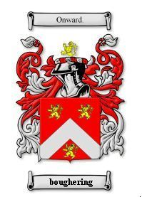 BOUGHERING Coat of Arms Surname Print - Genealogy Bonanza