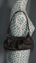 Sak original black pebble leather small mini hobo purse handbag - $12.99