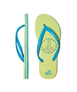 Showaflops Girl's Antimicrobial Shower & Water Sandals - Peace Sign Size... - $19.99