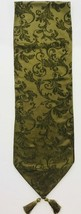 Table Runner Ivy Green Traditional Elegant With Tassels 13 X 88 Inches  - $69.29
