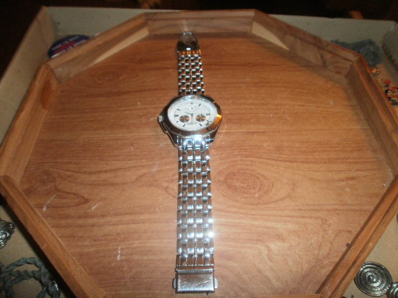 Men's Swiss Sport Watch for Parts or Repair , Silver Color