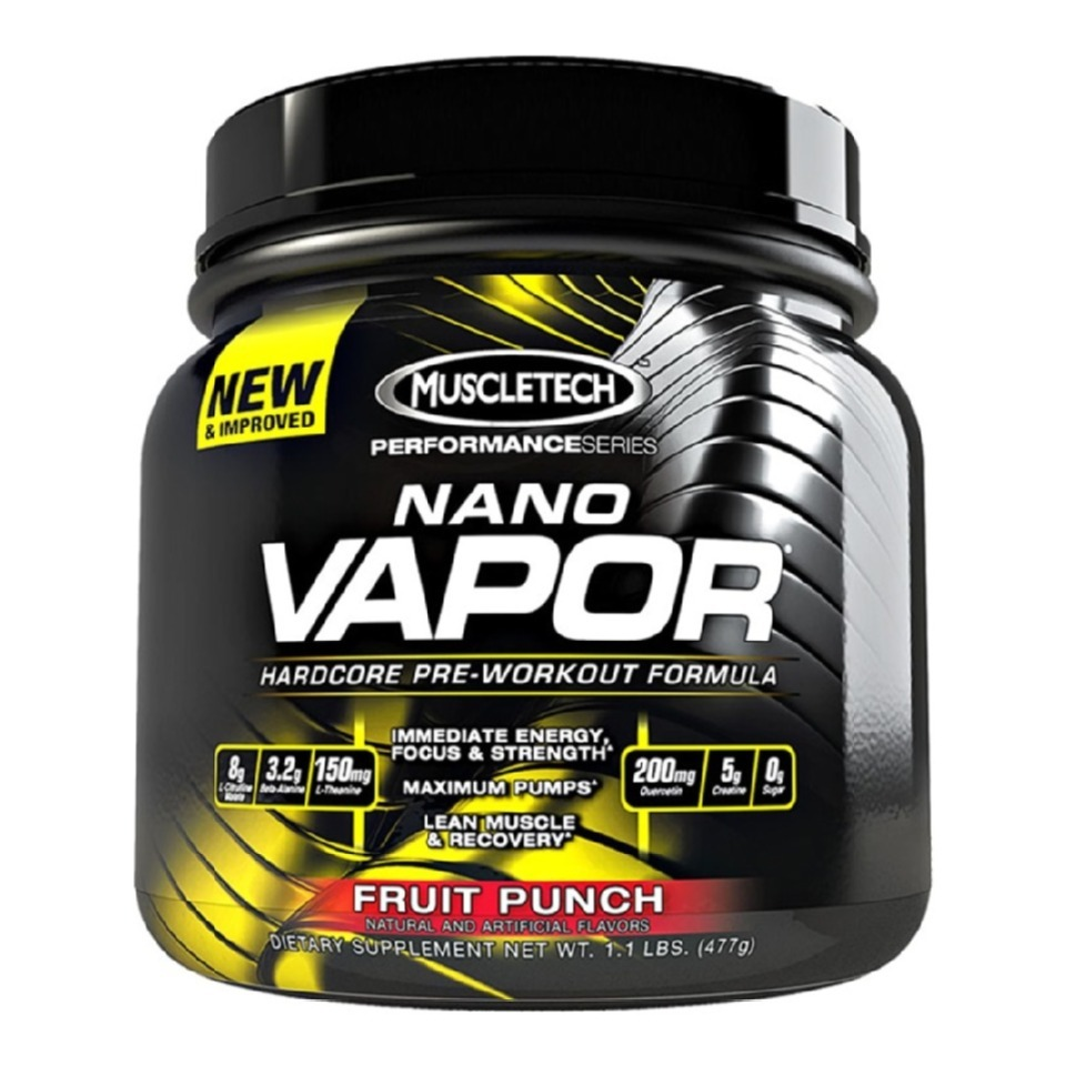 Muscletech nano vapor performance series  1.1 lb fruit punch