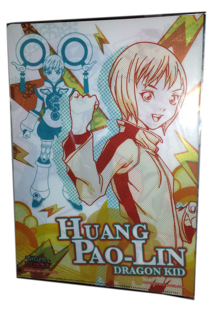 "Tiger & Bunny ""Blue Rose / Dragon Kid"" Anime Clear File * Banpresto"