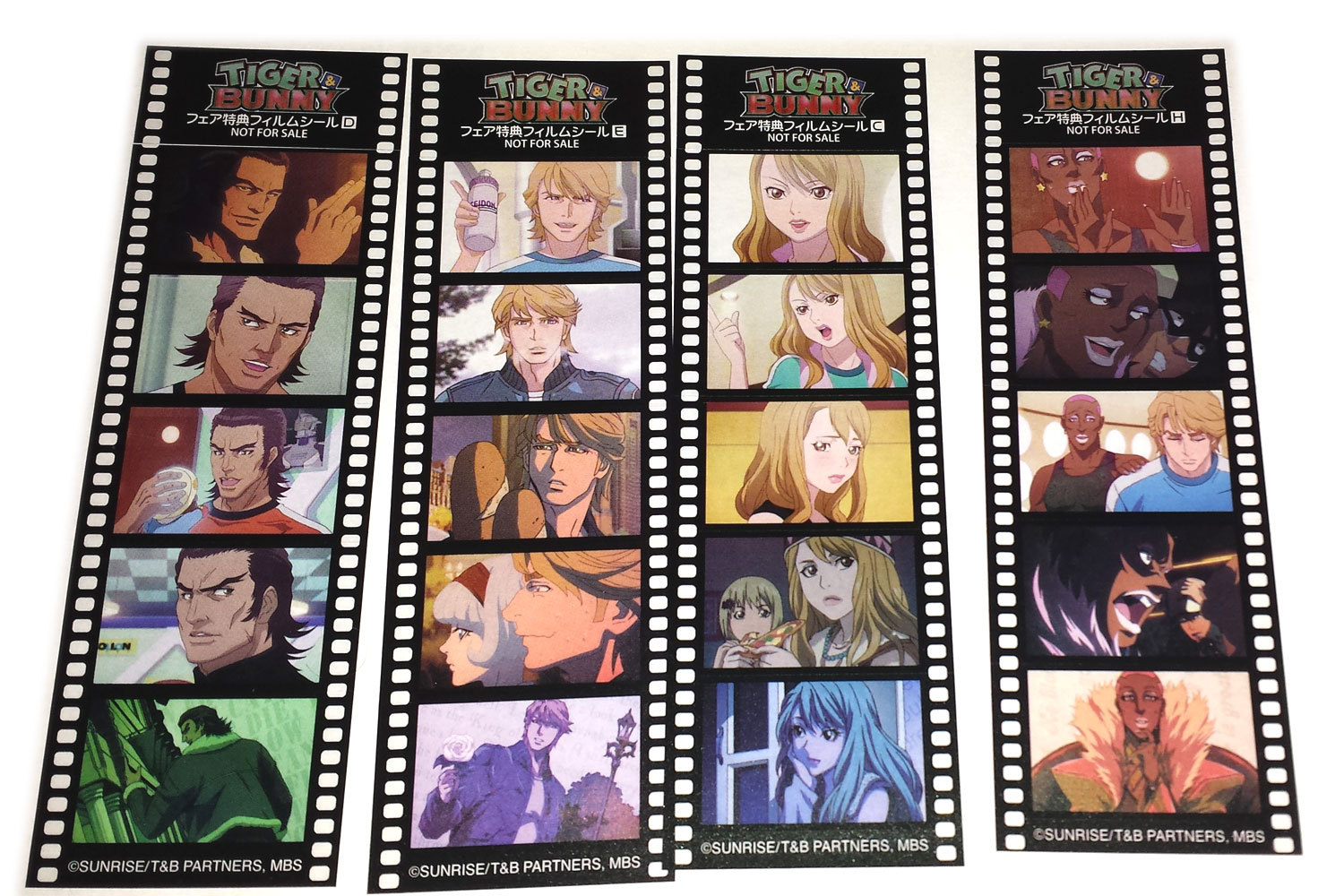 Tiger & Bunny Set of Ten (10) NFS Anime Film Strips