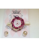 BABY GIRL FUCHSIA, PALE YELLOW, PINK HEADBAND WITH GOLD DOT TULLE - $7.00