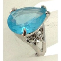 Fashion Jewellery Ring Cocktail ring plastic gem L-M or 16.75 - CR8B - $13.08
