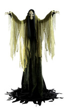 Hagatha the Towering Witch Halloween Prop Lifesize 7 Feet Sounds Haunted... - €154,08 EUR