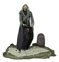 Graveyard Reaper Animated Halloween Prop 5 Feet Poseable Sounds Haunted ... - €171,27 EUR