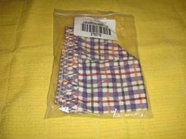 Longaberger Address Blueberry Plaid Liner - $14.49