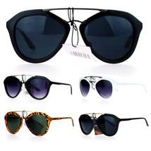 SA106 Mens Metal Double Bridge Retro Plastic Aviator Sunglasses - $9.95