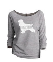 Thread Tank Cocker Spaniel Dog Silhouette Women's Slouchy 3/4 Sleeves Ra... - $24.99+