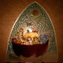 Fused Art Glass Noah's Ark Christian Religious Night Light Handmade in Ecuador image 8
