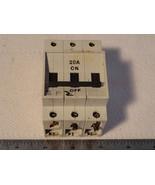 Entrelec LR88297 GMT-20U Stop-Circuit Breaker 20A 3p 240Vp 600Vac UL/CSA... - $18.81