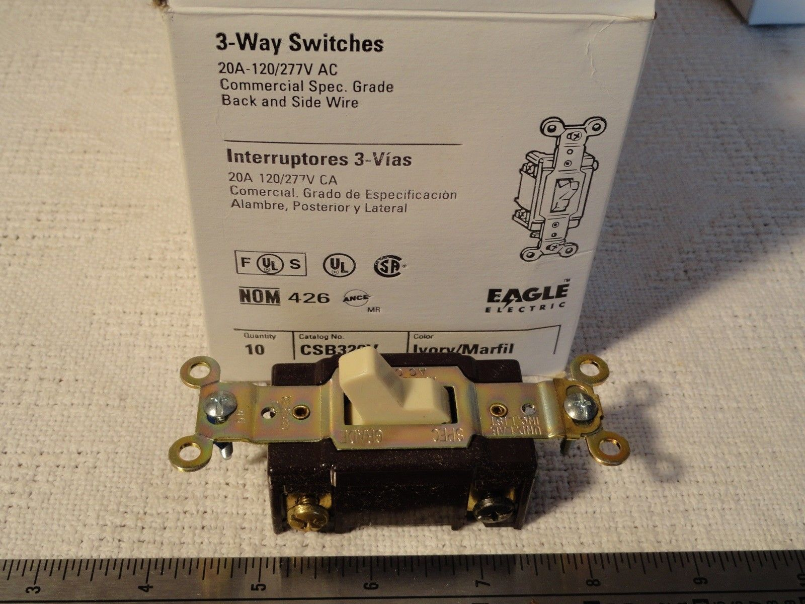 Cooper Eagle 3 Way Toggle Switch Csb320 V 20 And 50 Similar Items Wiring Quiet Single Pole Lighted 15 A 120 Ivory 57