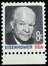 1971 8c Dwight Eisenhower, Multicolored Scott 1394 Mint F/VF NH - $0.99