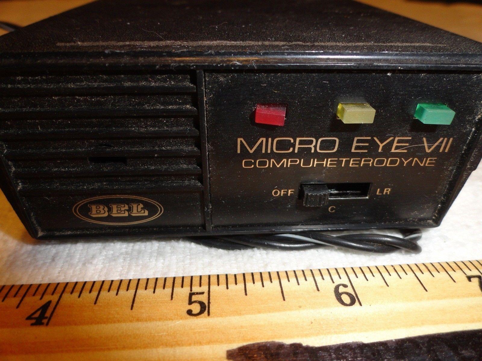 Vintage bel micro eye vii car radar detector speeding for Vintage küchenm bel