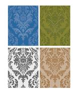 Damask Tiles Vectors-ClipArt-Digital ArtClip-Background - $4.00