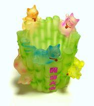 Lucky Cat Pen Holder Flower Pot Container - $11.57