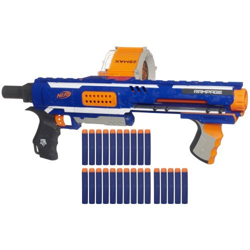 Kids Nerf N Strike Elite Toy Blaster Gun With 25 Dart ...