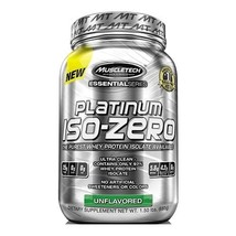 MuscleTech Platinum 100% Iso-Zero, 3 lb Unflavoured - $159.95