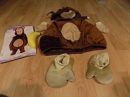 Toddler Size 12-24 Months Lil' Monkey Brown Plush Chimp Halloween Costume EUC - $35.00