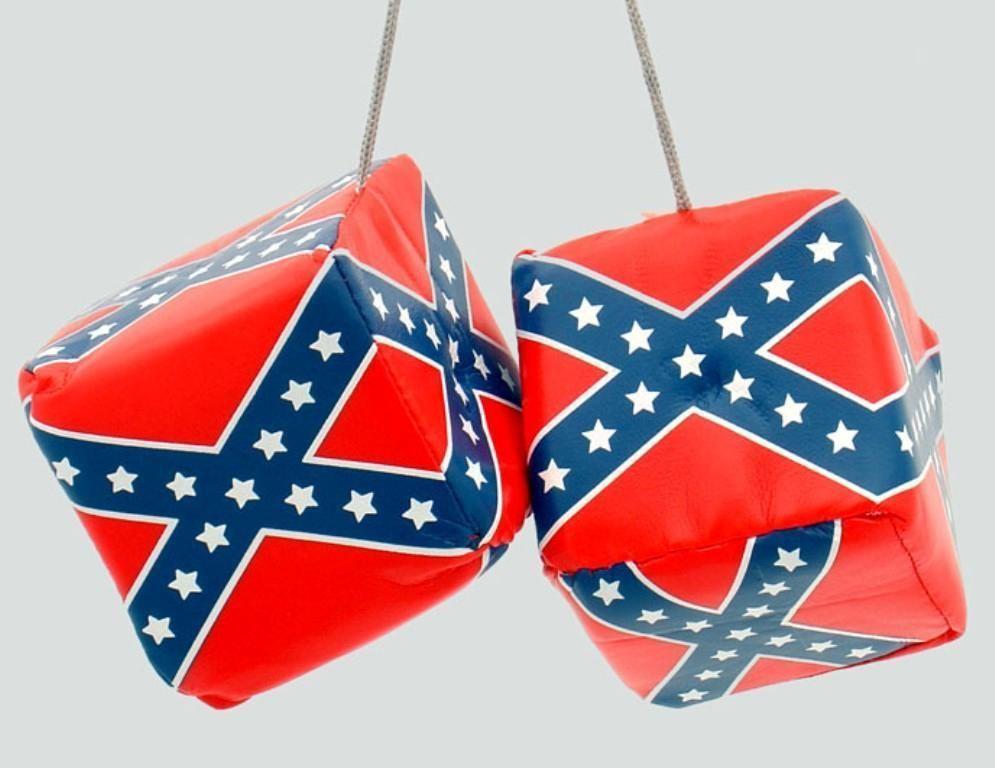 3625 Rebel Hanging Dice Car Mirror Decoration Flag