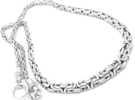 "Artisan Crafted Sterling Silver 18"" Graduated Borobudur Necklace  - $82.00"