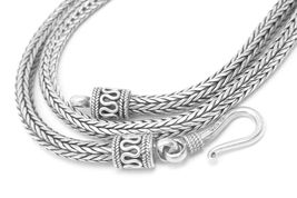 "Artisan Crafted Sterling Silver 22"" Tulang Naga Necklace  - $98.00"