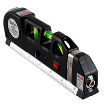 NEW Multipurpose Laser & Bubble Level & Locking 8ftTape Measure Tool - $19.97