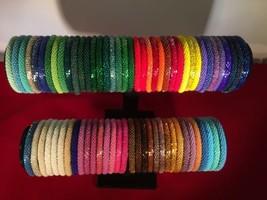 70 Pcs WHOLESALE  SOLID Mix glass bracelet bead seed handmade bangle Fundraiser - $130.90