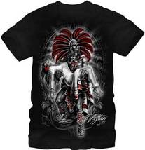 Fifth Sun Mens Graphic Printed Tee Aztlan Mocte... - $15.79