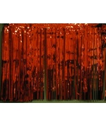 "Metallic Red Fringed Valance Party decoration garland 10 ft long x 15"" - $6.99"
