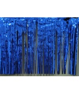 Metallic Royal Blue Fringed Valance Party decoration garland 10 ft long ... - $6.99