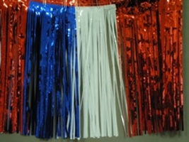 Metallic Red white and blue Fringed Valance Party decoration garland 10 ... - $7.99