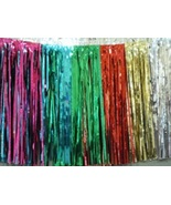 Metallic Multicolor Fringed Valance Party decoration garland 10 ft long  - $7.99