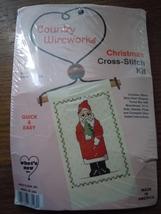 Country Wireworks Santa With Tree Christmas Cross Stitch Kit New - $4.99