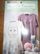 Colorpoint Cat Face & Paws Iron On Transfer by Kelly Kirshner New in Pac... - $4.99