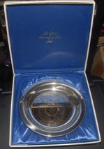 U OF TEXAS STERLING SILVER GOLD WASHED COMM PLATE 210gm - $169.99