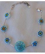 Light blue morano flowers bracelet - $28.00