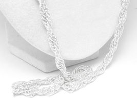 "Brilliant Sterling Silver 30"" French Rope Necklace Chain Diamond Cut - $73.00"