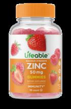 Lifeable Zinc Gummies 50 mg,  Great Tasting Natural Flavor, 90 Gummies - $14.99