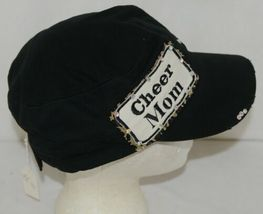 Pinky Bolle Brand Decorative Womans Hat Black Cheer Mom Patch image 4