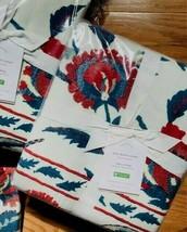 Pottery Barn Anu Suzani Duvet Cover Set Red Blue King 2 King Sham Embroi... - $199.00